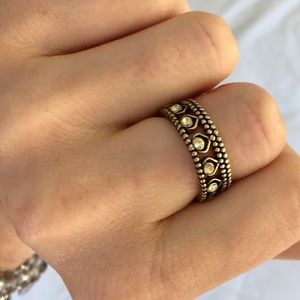 Chloe + Isabel Golden Lotus Crystal Ring